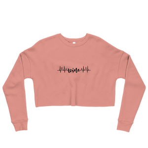 Wine Beats Crop Sweatshirt - lavished-collection