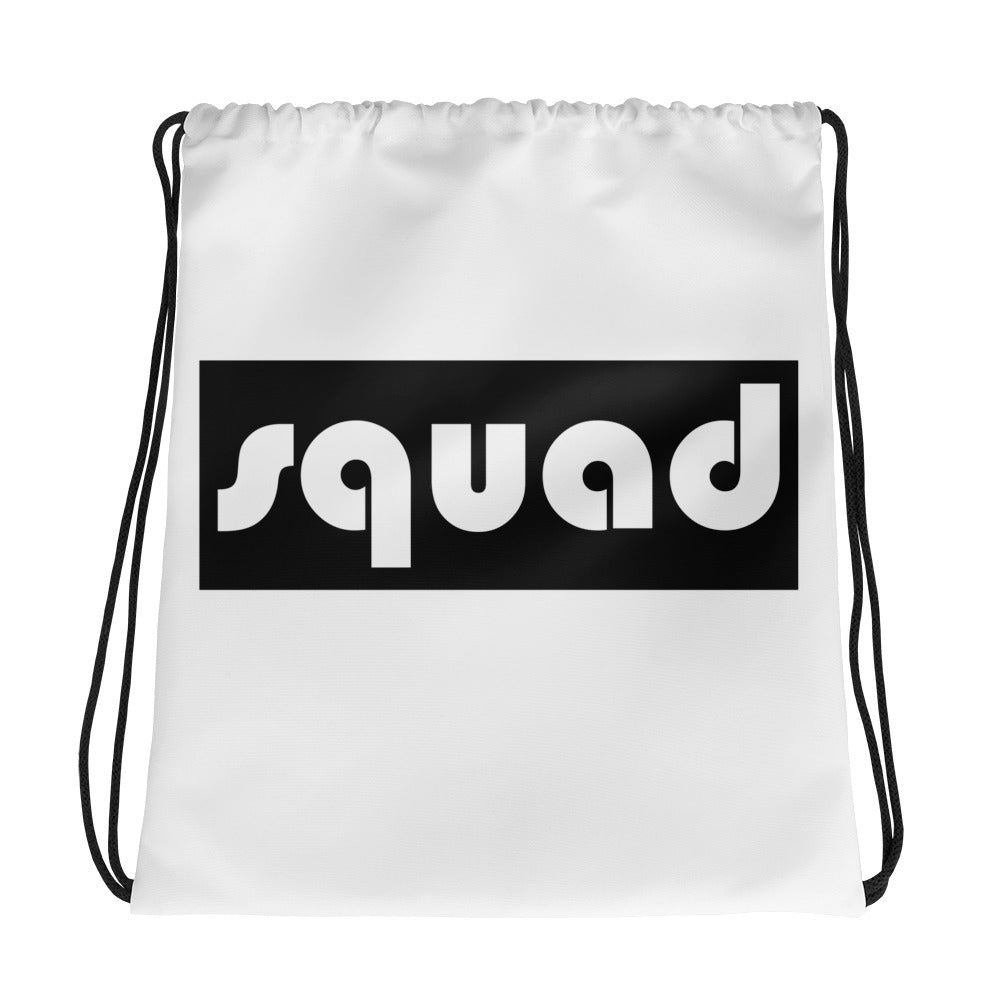 Squad (Black) Drawstring bag Accessories - Lavished Collection