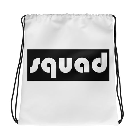 Squad (Black) Drawstring bag