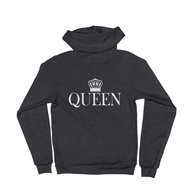 """Queen"" Back Print Hoodie sweater Apparel - Lavished Collection"