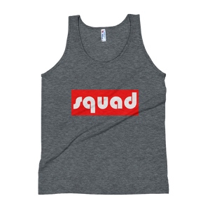 """Squad"" (Red & White) Unisex Tank Top Apparel - Lavished Collection"