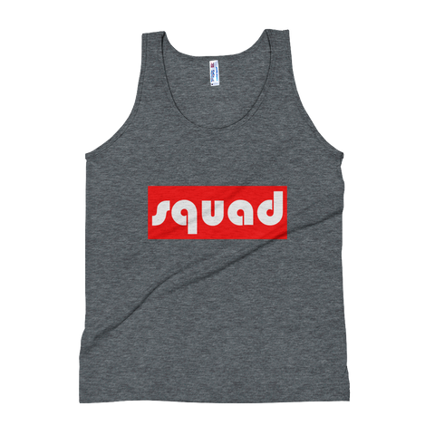 """Squad"" (Red & White) Unisex Tank Top - lavished-collection"
