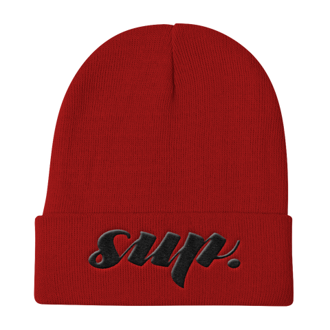 """Sup"" Knit Beanie Hats - Lavished Collection"
