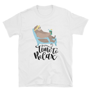 Time to Relax - Sloth Humor Tees - lavished-collection