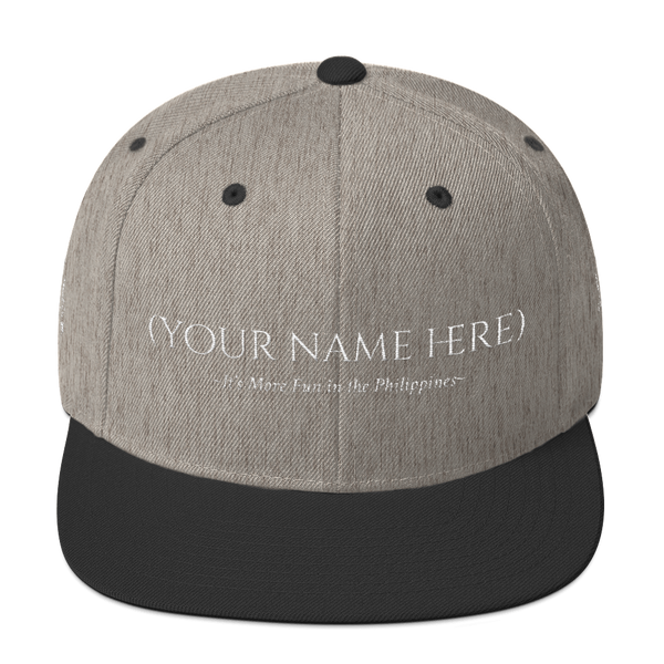 "(Your Name) ""It's More Fun in the Philippines"" Snapback Hat Hats - Lavished Collection"