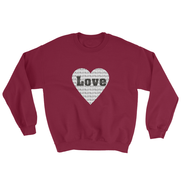 """XO Love"" Women's Sweatshirt Apparel - Lavished Collection"