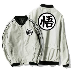 Manteau Dragon Ball gris blanc