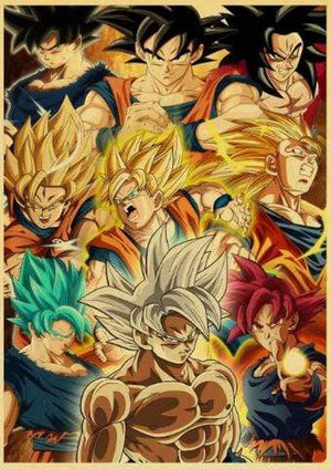 Poster de Goku Dragon Ball Z
