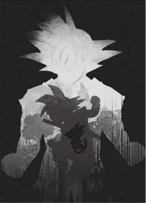Poster Dragon Ball Noir et Blanc
