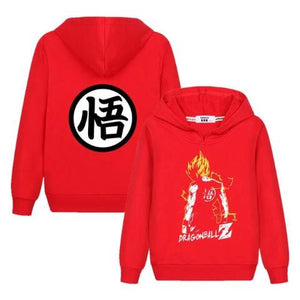 Sweat Enfant Dragon Ball Super Rouge