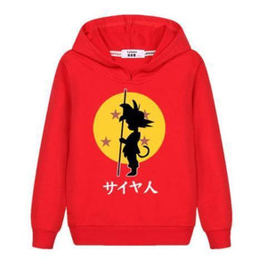 Sweat Enfant Dragon Ball Z Rouge