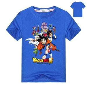 T-Shirt Dragon Ball Super Enfant Bleu