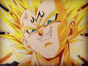 Tableau Dragon Ball Vegeta