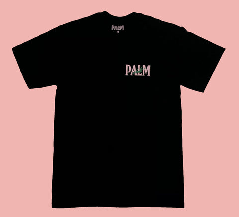 Palm Vaults Tee Black (Logo Front & Back)
