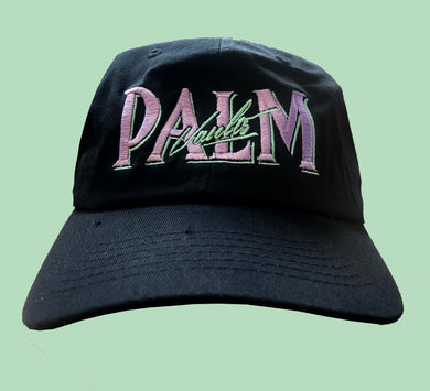 Palm Vaults Cap Black (Logo Lilac/Mint)