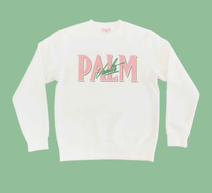 Palm Vaults Sweater White