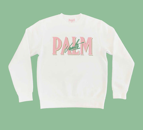 Palm Vaults White Jumper