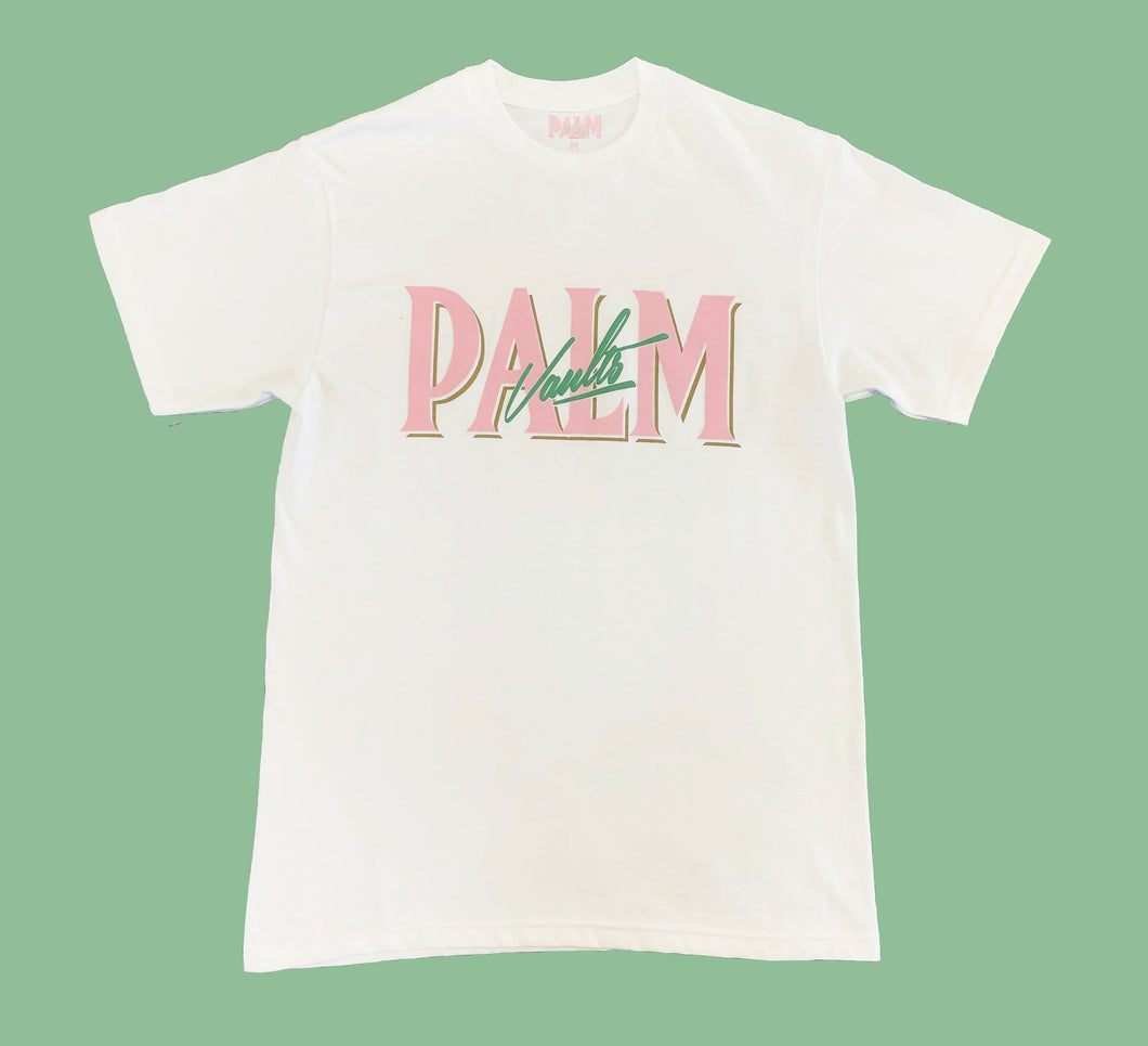 Palm Vaults Tee White (Logo Front)