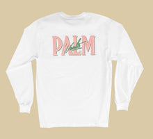 Load image into Gallery viewer, Palm Vaults Long Sleeve Tee White (Logo Front & Back)