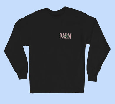 Palm Vaults Long Sleeve Tee  Black (Logo Front & Back)