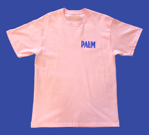 Palm Vaults Tee Pink (Logo Front & Back)