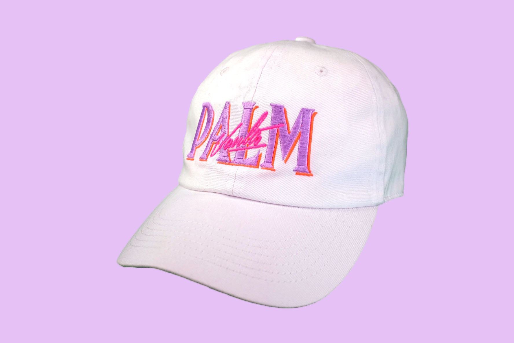 Palm Vaults Cap White (Sunset)