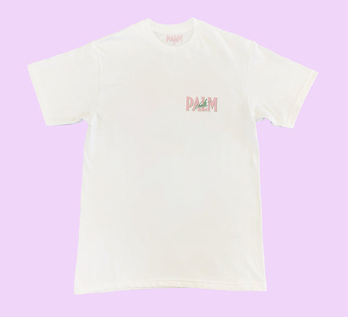 Palm Vaults Tee White (Logo Front & Back)