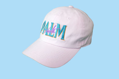 Palm Vaults Cap White (Dolphin)