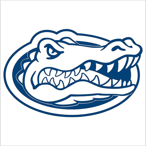 "6"" Blue Outlined Florida Gator Head Vinyl Decal"