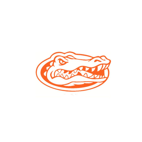"12"" Orange Outlined Florida Gator Vinyl Decal"