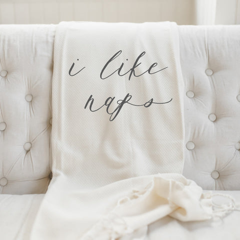 I Like Naps Lightweight Throw Blanket