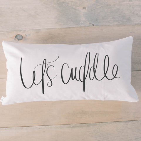 Let's Cuddle Lumbar Pillow