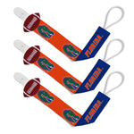 Florida Gators 3-Pack Pacifier Clips