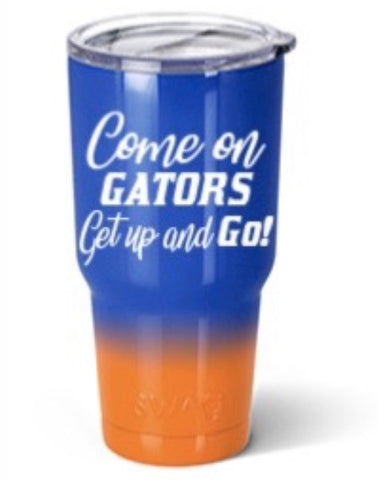 Gators Get Up and Go Orange and Blue 30 oz Tumbler