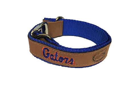 Florida Gator Woven and Leather Dog Collars