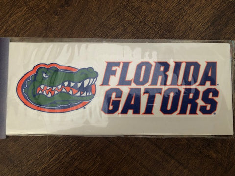 6 X 2 Florida Gators Decal with Gator Head