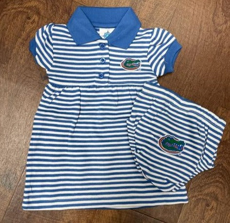 Florida Gators Infant Girl Striped Dress & Bloomer