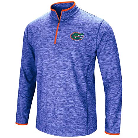 Dry Fit Pullover with Zipper in Blue