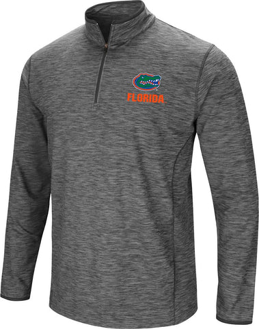 Dry Fit Pullover With Zipper in Grey