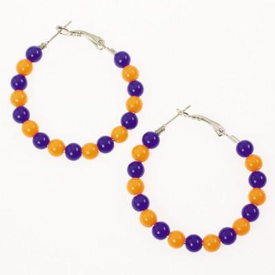 Florida Gators Beaded Hoop Earrings