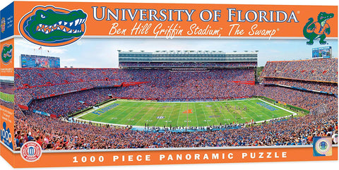 Florida Gators 1000 Piece Ben Hill Griffin Stadium Panoramic Jigsaw Puzzle