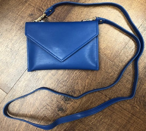 Royal Blue Vegan Crossbody