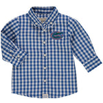 "Gators ""Toddler"" Blue & White Gingham Dress Shirt"