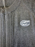 Ladies Heather Grey Zipper Sweater