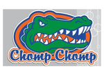 "Gators ""Chomp Chomp"" 4"" Vinyl Decal"