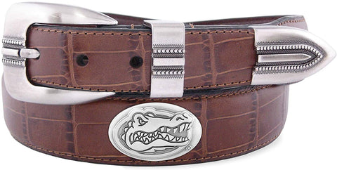 Florida Gators Men's Concho Croc Tan Leather Belt
