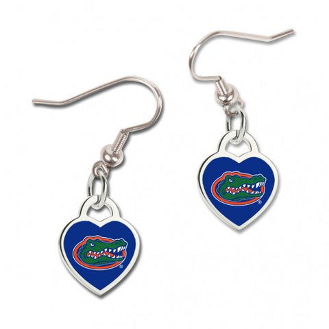 Gator Heart Dangle Earrings