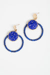 Royal Blue Double Earrings
