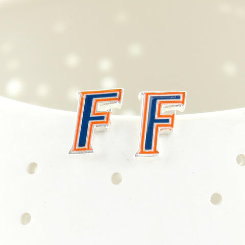 "Florida Gators ""F"" Stud Earrings"