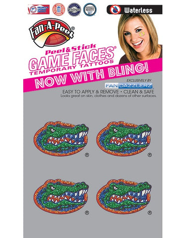 Florida Gators Fan Dazzlerz Temporary Tattoos